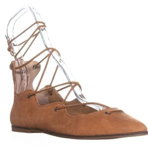 Lucky Brand Billoh Lace Up Pointed Toe Flats